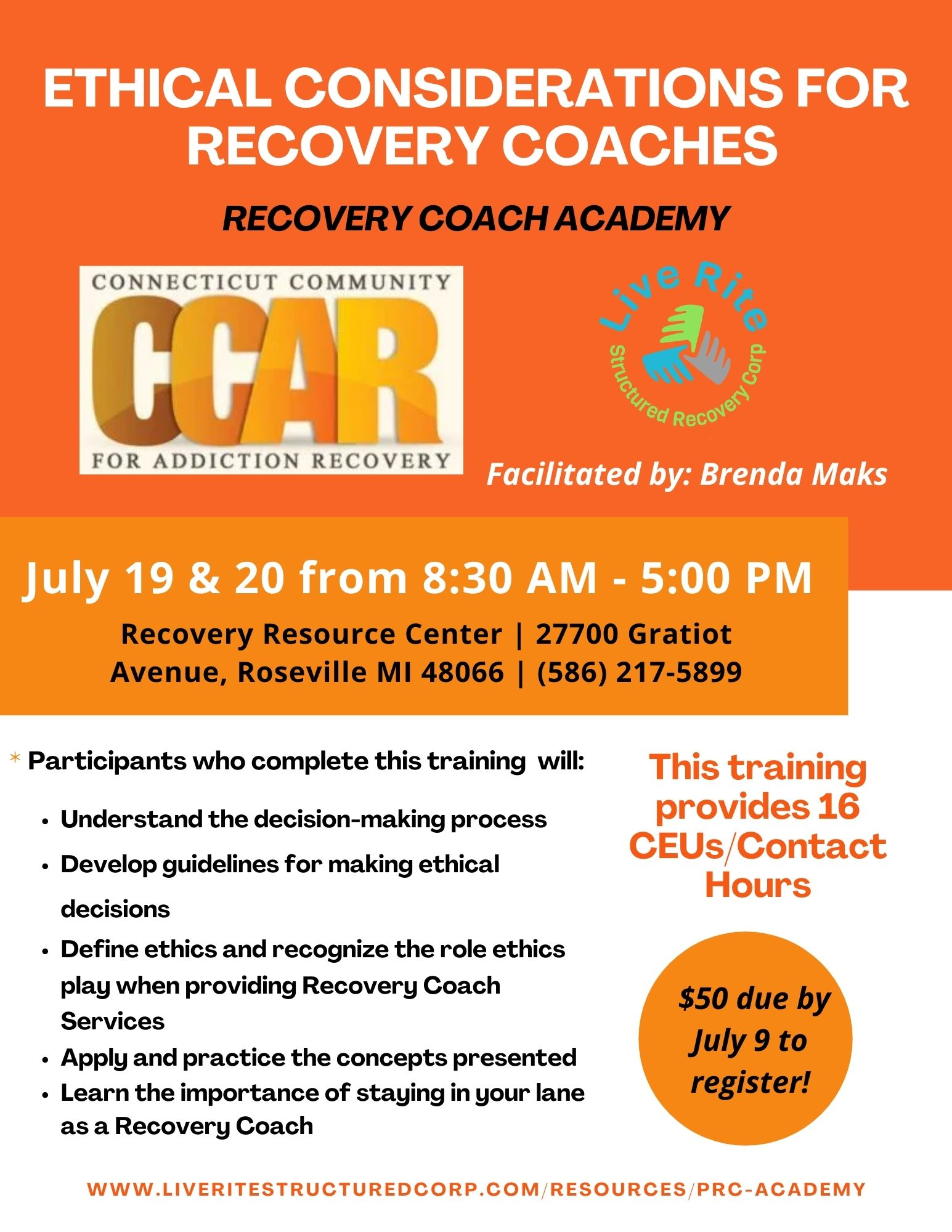 Peer Recovery Coaching Academy Course